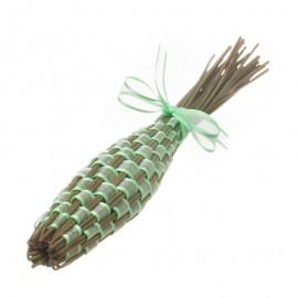 Splétaná levandulová palice se světle zelenou mašlí