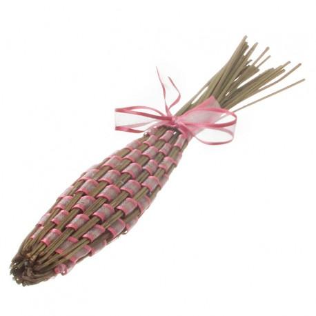Levandulová palice propletená růžovou mašlí