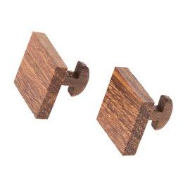 """Dřevěné manžetové knoflíčky """"Zebrano"""""""