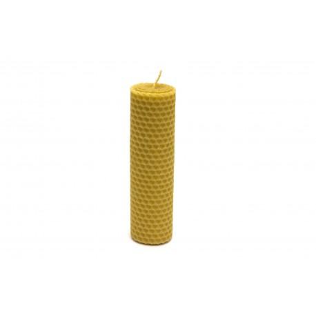Rolovaná svíčka ze včelího vosku 13,5x4 cm