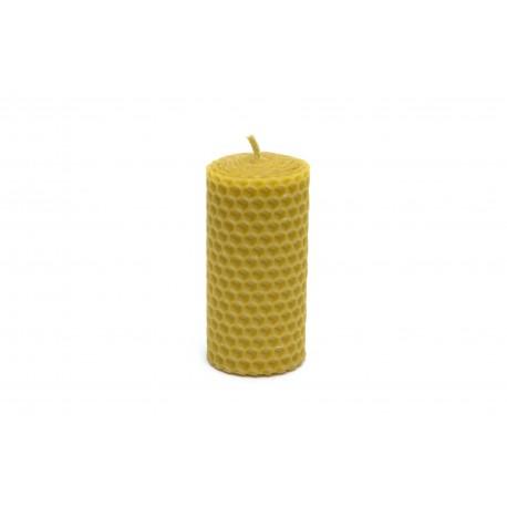 Rolovaná svíčka ze včelího vosku 8x4cm