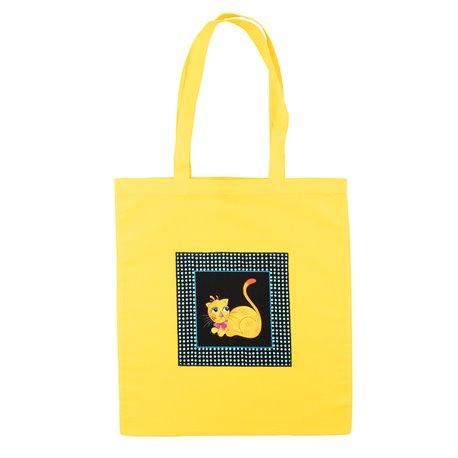 """Nákupní látková taška na rameno """"Hravá kočka"""""""