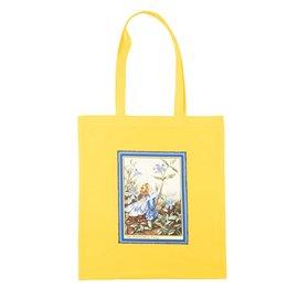 """Nákupní látková taška na rameno """"Květinový vílí život"""""""