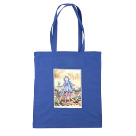 """Nákupní látková taška na rameno """"Zadumaná víla Zvonilka"""""""