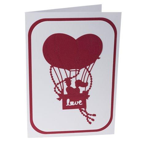 """Blahopřání pro novomanžele """"Zamilovaný pár v balónu"""""""