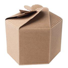 Svatební výslužka - šestihranná dárková krabička