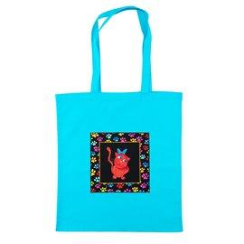"""Nákupní látková taška na rameno """"Kočičí svět"""""""