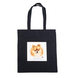 """Nákupní látková taška na rameno """"Pomeranian špic"""""""
