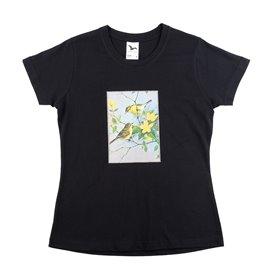 """Dámské tričko s nášivkou """"Šikovní ptáčci"""""""