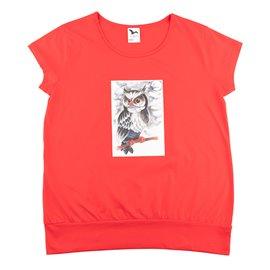 """Dámské tričko s potiskem """"Moudrá sova"""""""