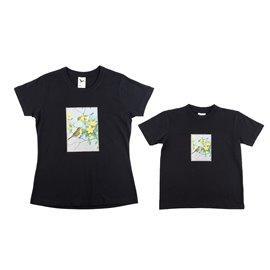 """Dvojice - malé a velké tričko s nášivkou """"Šikovní ptáčci"""""""