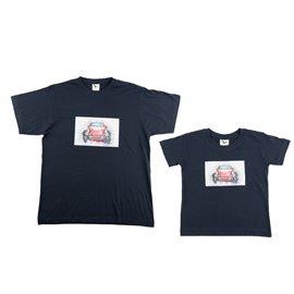 """Dvojice - malé a velké tričko s nášivkou """"Volkswagen Brouk"""""""