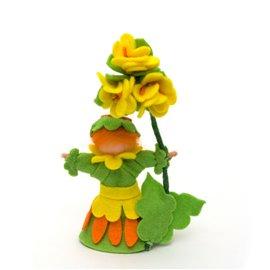 """Květinová panenka z filcu """"Prvosenka"""""""