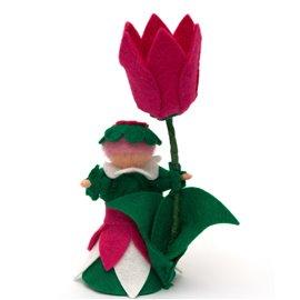 """Květinová panenka z filcu """"Tulipánka"""""""
