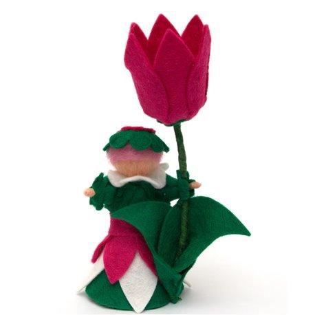 """Květinová panenka z filcu """"Tupilánka"""""""