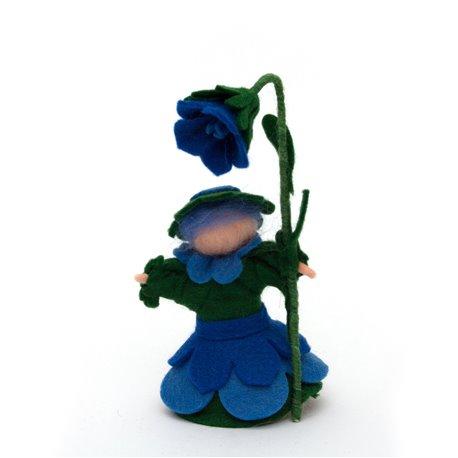"""Květinová panenka z filcu """"Zvonilka"""""""