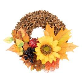 """Dekorativní podzimní věnec """"Barevné dny"""""""