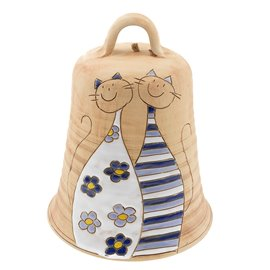 """Velký keramický zvon """"Kočičí zvoneček"""""""
