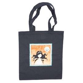 """Nákupní látková taška na rameno """"Volná jako pták"""""""