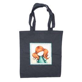 "Nákupní látková taška na rameno ""Culíkatá holčička"""