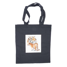 """Nákupní látková taška na rameno """"Sebejistý tygr"""""""