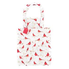 """Bavlněná nákupní taška přes rameno """"Kardinál červený"""""""