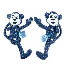 """Dekorační spony na závěsy sada """"Modré opice"""""""