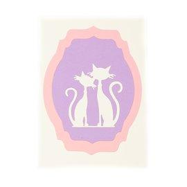 Kočičí blahopřání pastelové