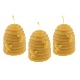 Sada tří svíček včelí úl - včeláčci