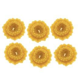 Sada plovoucích kytiček ze včelího vosku 6ks