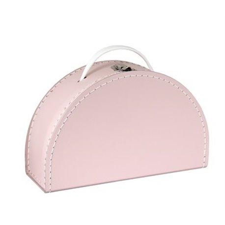Půlkruhový růžový kufřík