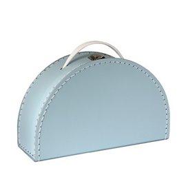 Půlkruhový modrý kufřík