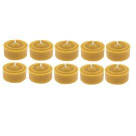 Sada bezobalových včelích čajových svíček 10ks