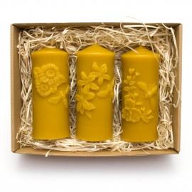 """Sada svíček ze včelího vosku """"Medové květiny"""""""