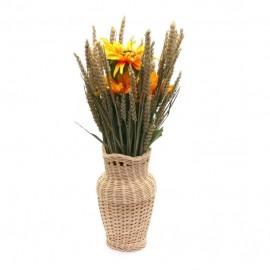Dekorativní váza_Slunečnice v obilí