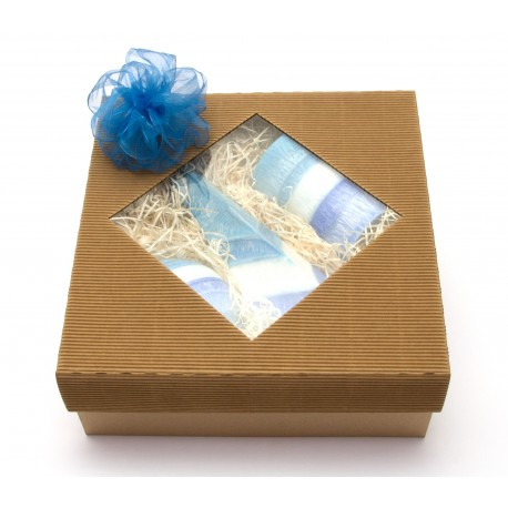 Mega svíčkový dárek modrý