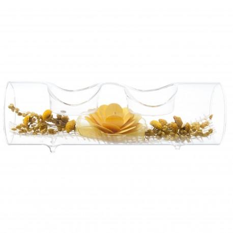 """Svícen na čajovou svíčku """"Gladelis"""" žlutý"""
