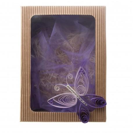 """Dárková krabička """"Fialový motýl"""""""