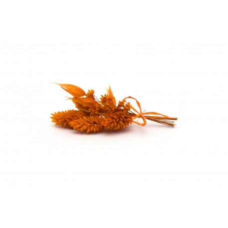Oranžová kytička - 10 cm