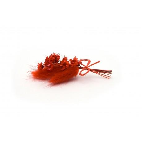 Červená kytička - 10 cm