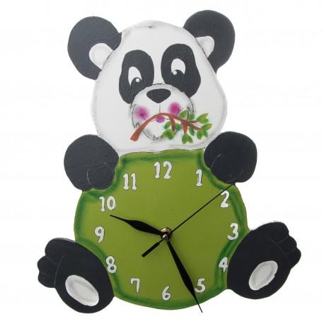 Dřevěné hodiny - panda Fanda