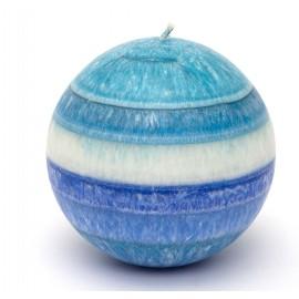Svíčka velká modrá koule s pánským parfémem
