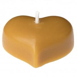 Svíčka ze včelího vosku - srdíčko