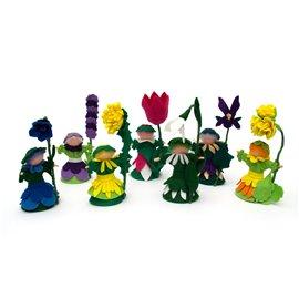 Květinové panenky z filcu