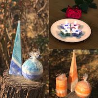 přírodní svíčky z palmového vosku